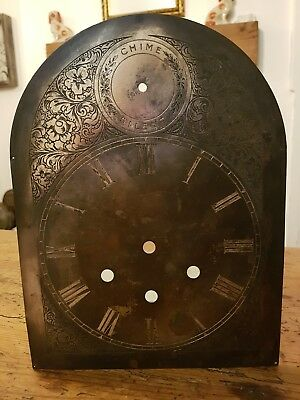 Vintage Metal Clock Face - Written on Back; 72 Ludgate Hill, Yabsley