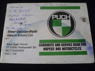 PUCH Puch Maxi Moped - Guarantee & Service Book - ORIGINAL - LOOK!
