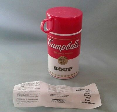 Campbell's Soup CAN-TAINER  Condensed Soup Plastic Thermos 11.5 oz. 1998 W/ PAPE