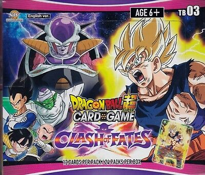 Dragonball Super Card Game Clash of Fates sealed booster box 24 packs 12 cards
