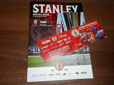ACCRINGTON STANLEY  v  LINCOLN CITY  2018/19 CHECKATRADE TROPHY ~ DEC 4 SELL OUT