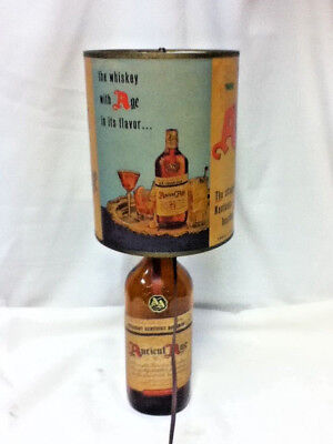 Ancient age whiskey sign lamp motion spinning heat shade lamp light lighted bar