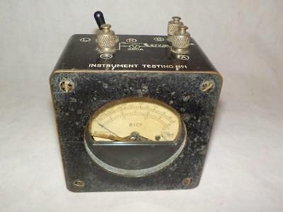"1944 MILITARY BAKELITE COPPER CASE OHMS METER BY B.I Co ""INSTRUMENT TESTING No1"""