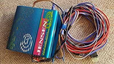 Jensen A222HLX 250W 12V Amp Amplifier with cables wiring kit - car audio sub