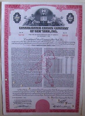 Consolidated Edison Company of New York, Inc $1000 bond dated 1960