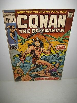 Conan The Barbarian #1 Marvel Comics 1970 Barry Smith Origin & 1St Appearance