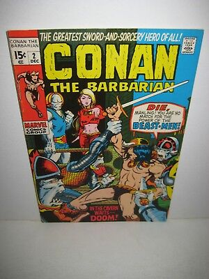Conan The Barbarian # 2 December 1970 1st Appearance of the Beast-Men Marvel