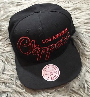 9ee35e61e17 ... sale mitchell ness los angeles clippers snapback cap hat black red  basketball wool a5408 799f3