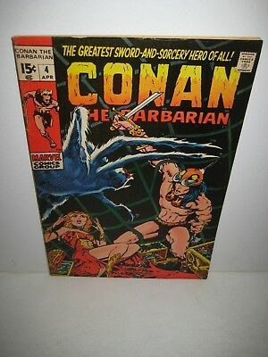 Conan the Barbarian #4 (1971, Marvel) early Conan, Windsor-Smith art
