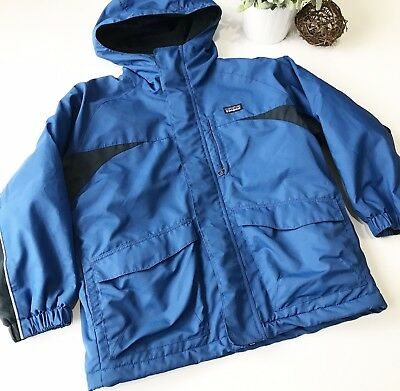PATAGONIA Kids Boys Size Small Blue Hooded Winter Jacket