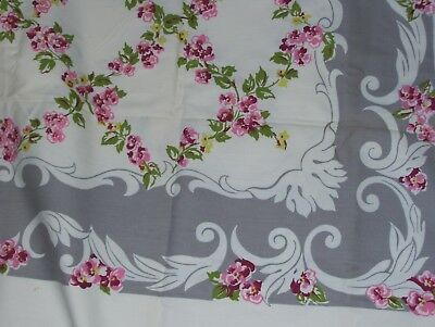 "Vintage Wilendur Rectangle Tablecloth  69"" × 54"" Vintage Perfection Linens"