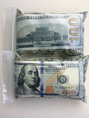 Real Shredded Money confetti and Fake $100 bill for pranks (x2)