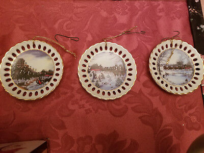 Budweiser Collectible Christmas plate ornaments from the 1990,91 and 92 Steins