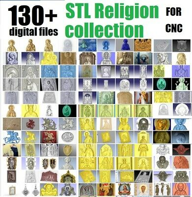 130+ religion STL files LOT models icons panno for cnc in STL file format