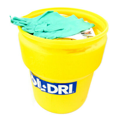 Oil-Dri L91310 10 Gallon Hazmat Spill Kit with (4) Socks & (30) Pads