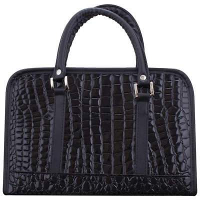 Gigi Chantal™ Black Faux Alligator Bible Cover   # DBBLBA1