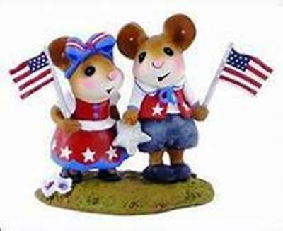TRUE FOR THE RED, WHITE & BLUE by Wee Forest Folk, WFF# M-331A