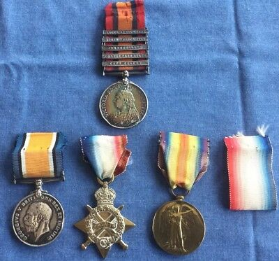 Rare Father & Son Medal Group - South Africa Boer War &  WWI Canada 2nd CMR