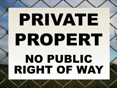 private property no entry sticker for door gate sign or secure area 122mm van