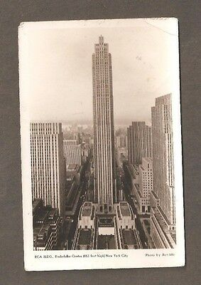 Vtg Postcard RCA Building Rockefeller Center New York NY Ratcliffe RPPC