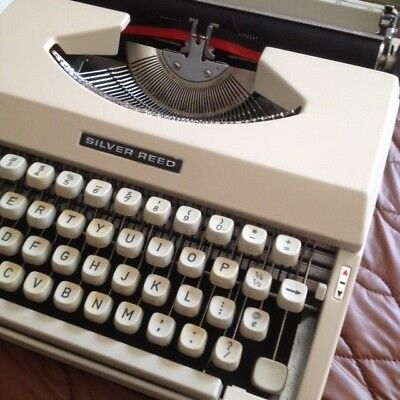 Retro SILVER REED portable typewriter. Fully restored in excellent working order