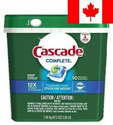 Cascade Complete ActionPacs Dishwasher Detergent Soap, Fresh Scent, 90 Count