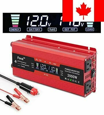 LVYUAN 1000W/2000W Power Inverter Dual AC Outlets and Dual USB Charging Ports...