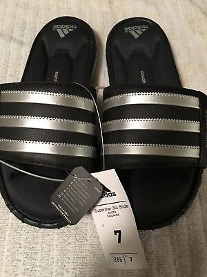newest d165a cee20 Adidas Men s Superstar 3G Slides Black Silver Slip On Shoes Sandals Size 7  NEW