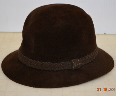 Vintage Stetson The Imperial with Leather Band Brown Braided Band Hat Size 7