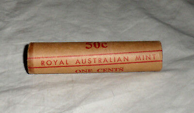 Royal Australian Mint 1976 One Cent Coin Mint Roll  -  50 Coins  -  USA Seller