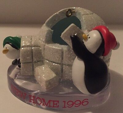 1996 New Home Forget Me Not Penguins Collectable Ornament American Greetings