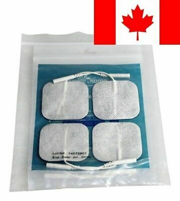 """Easy@home 16 Individual 2""""x2"""" Re-useable TENS & EMS Carbon Electrode Pads, Co..."""