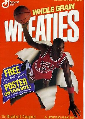 MICHAEL JORDAN 1989 WHEATIES POSTER Special Bonus Part 'C'