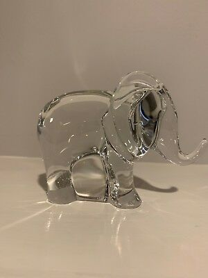 BACCARAT France Crystal ELEPHANT Figurine *MINT CONDITION*