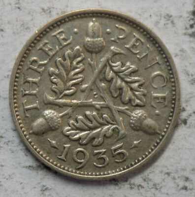 Great Britain 1935 3 Pence Silver Coin