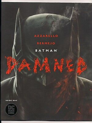 Batman Damned #1 Cover A Uncensored 1St Prints Nm Black Label Dc Comics Htf