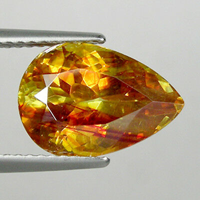 6.42 ct- TOP QUALITY MULTI COLOR SPARKLING* NATURAL SPHALERITE SPAIN Pear  1577