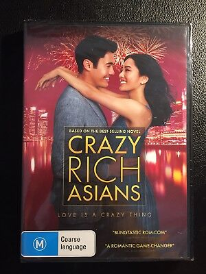 Crazy Rich Asians ( DVD 2018 ) NEW RELEASE BRAND NEW AND SEALED