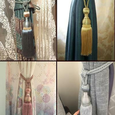 Home Curtain Tie Backs Tassel Holdbacks Ball Tie Backs Binding Rope Buckle Decor