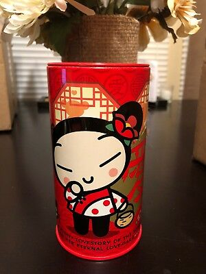 """Pucca Tin Coin Holder 5.5"""" H x 3"""" W"""