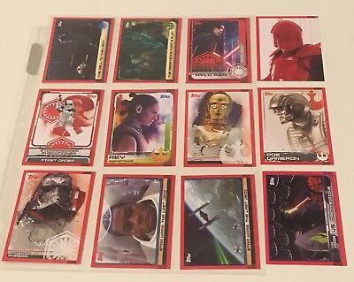 2017 Topps Star Wars Journey to the Last Jedi - (12 Cards)
