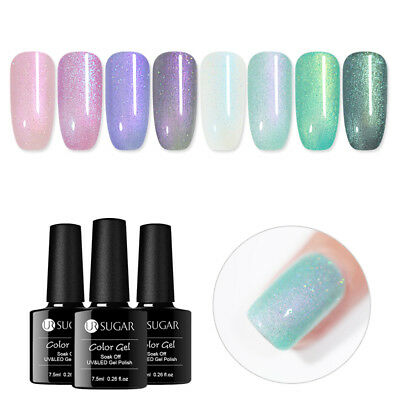 UR SUGAR 7.5ml Chameleon  Shell Soak Off UV Gel Polish Glitter Nail Art
