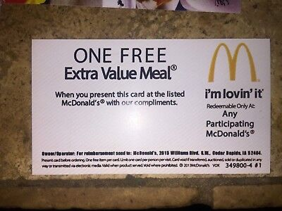 10 Mcdonalds Free Combo Voucher Meals Cheap New Restaurant Fast Food Gifts