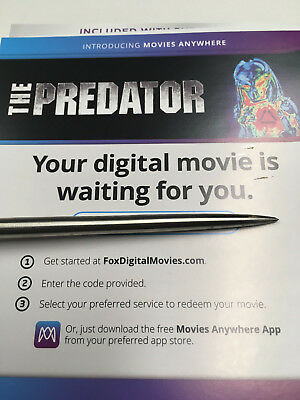 The Predator (2018) Digital HD code ONLY from 4k UltraHD package