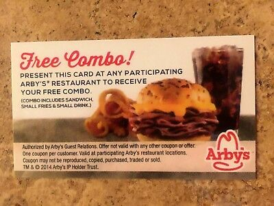10 Arbys Free Combo Voucher Meals Cheap New Restaurant Fast Food Gifts