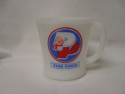 Fire-King Reddy Kilowatt PENN POWER ELECTRIC CO. Advertising Coffee Mug