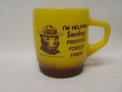 Fire-King Help Smokey The Bear Prevent Forest Fires Advertising Coffee Mug