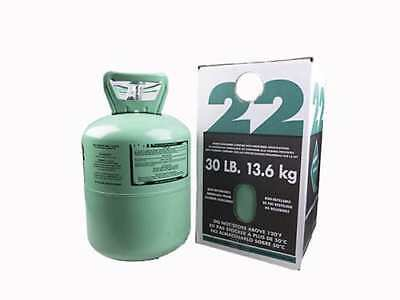 30 lb.New R-22 Virgin Refrigerant FACTORY SEALED  FREE SAME DAY SHIPPING by 3pm!