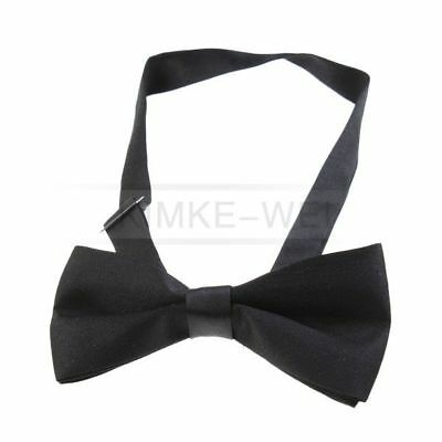 Black Clip On Bow Tie - 119mm Width - Adjustable NEW