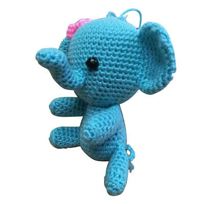Blue Elephant Crochet Kit Handmade Stuffed Toy Making for Beginners Adults